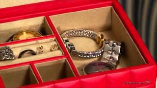 Small Quilted Leather Jewelry Box - Product Review Video