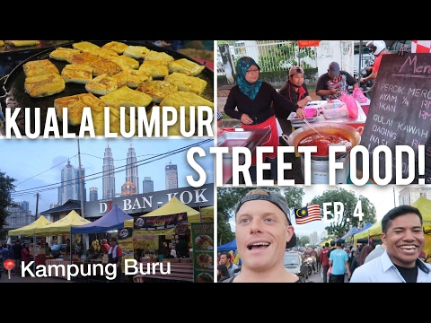 FIRE 🔥 Street Food in Kuala Lumpur VLOG 🇲🇾 [KL Ep.4] Special Ramadan Night Bazaar in Kampung Baru