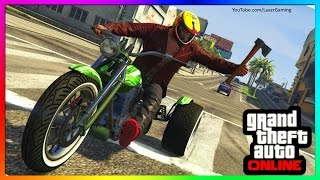 GTA 5 - HOW TO MELEE ON MOTORBIKES!  (GTA Online Biker DLC Update)