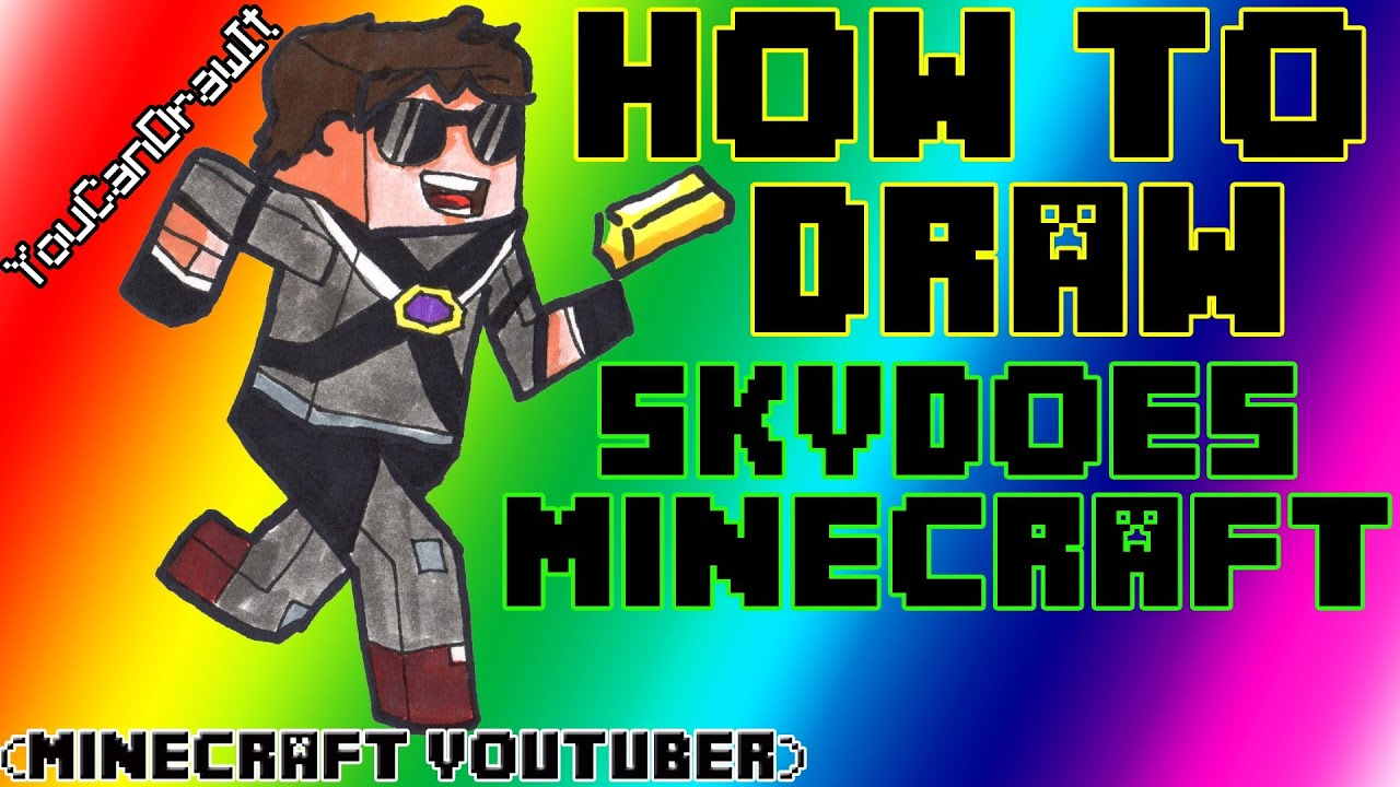 How To Draw Skydoesminecraft Minecraft Youtubers Youcandrawit ツ 1080p Hd Youtube