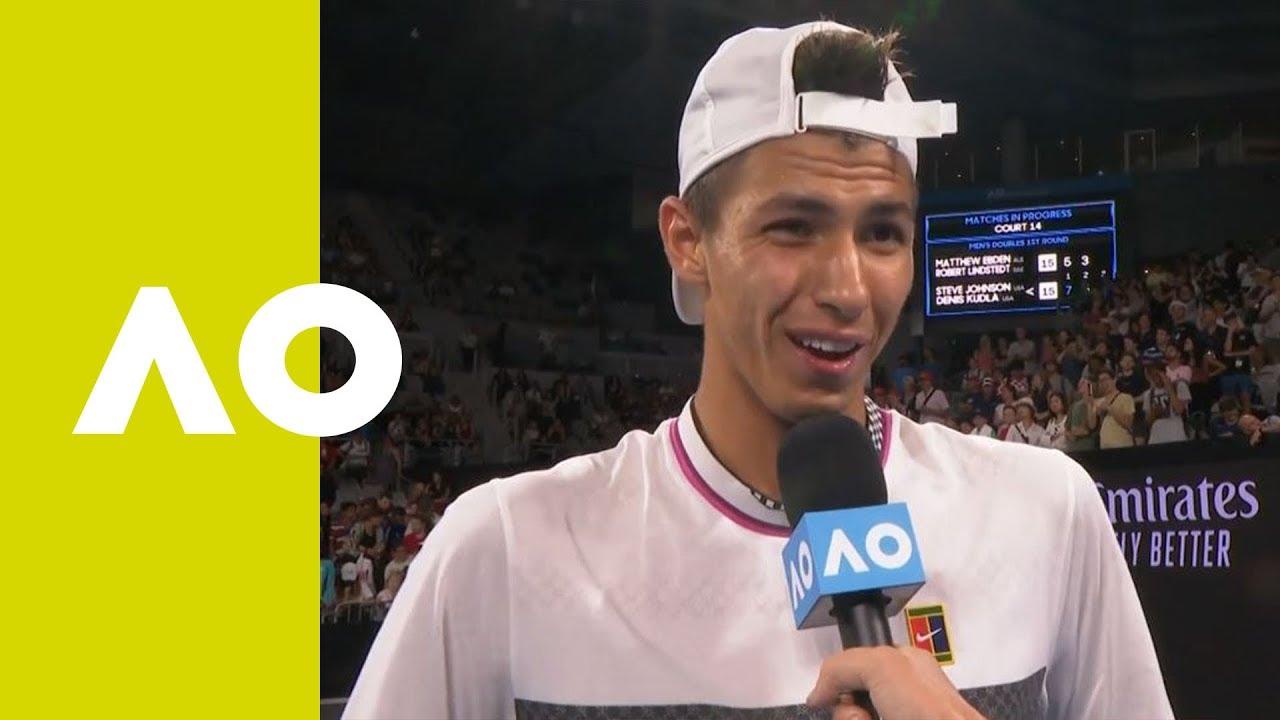 Alexei Popyrin on-court interview (2R) | Australian Open ...