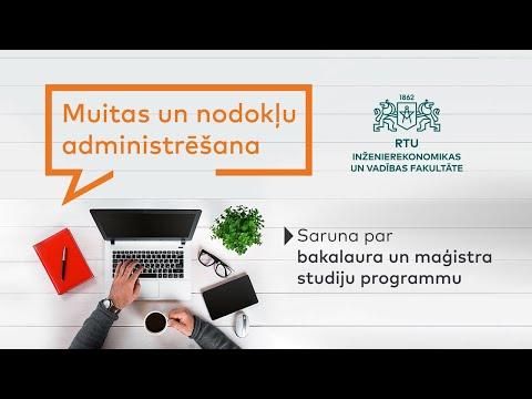 Studē muitas un nodokļu administrēšanu!