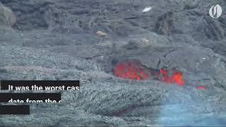 Hawaiian 'lava bomb' injures dozens in terrifying boat incident