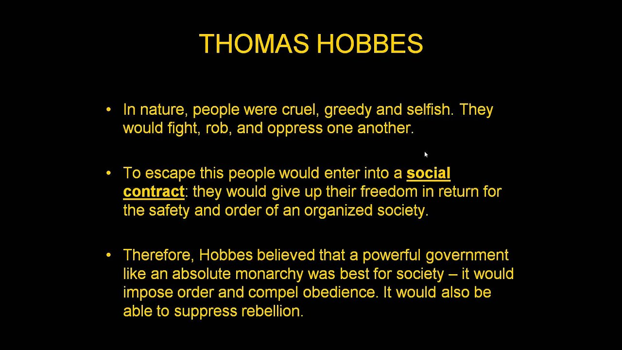 hobbes and enlightenment ideas Thomas hobbes: moral and political philosophy the english philosopher thomas hobbes but to understand the essentials of hobbes's ideas and system.