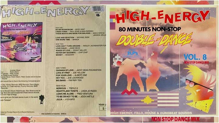 highenergy double dance  volume 8 80 mins nonstop mix 2lp various artists 1987