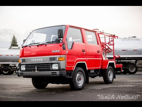FOR SALE: 1990 TOYOTA Hiace 4wd Double Cab Fire Captains