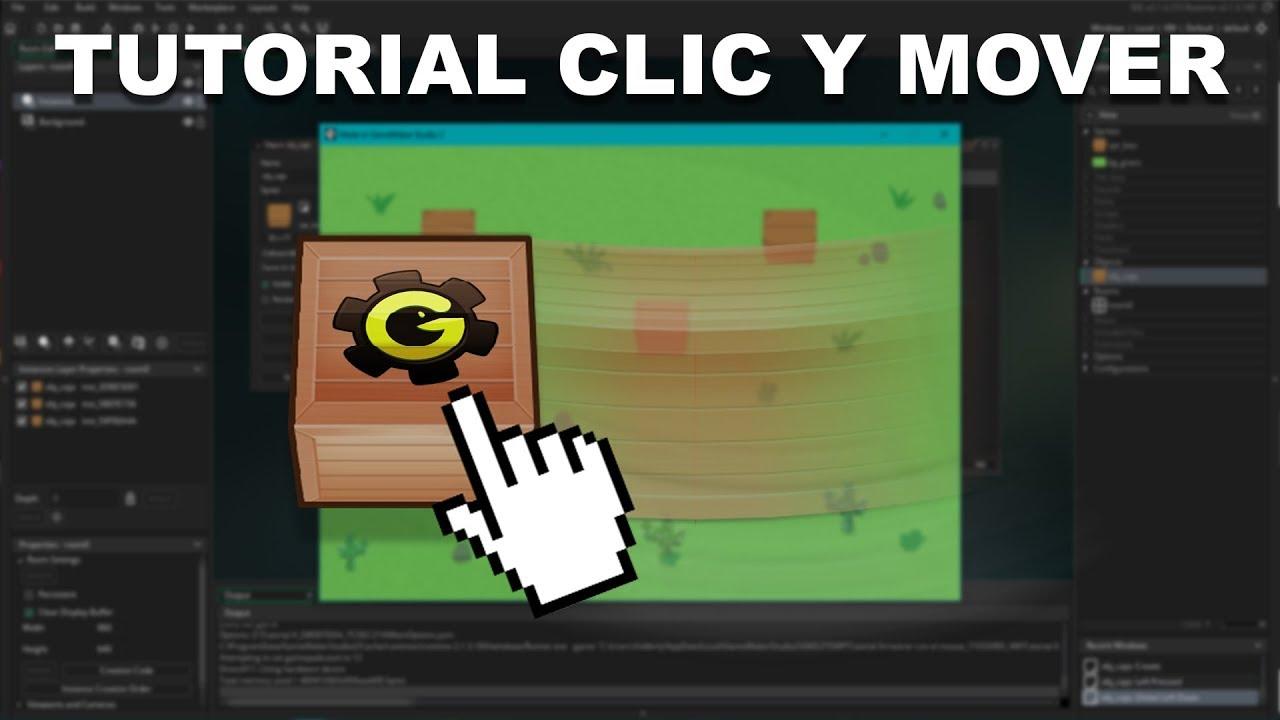Como Arrastrar y Mover Objetos con el Mouse en GameMaker