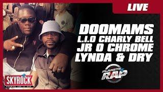 Charly Bell, L.I.O, Lynda, Jr O Chrome, Doomams et Dry en live dans Planète Rap !