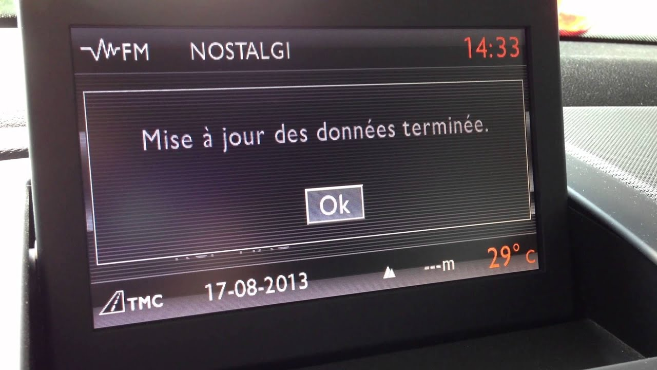 Mise jour upgrade du firmware du wip nav sur une peugeot 308 via carte sd youtube