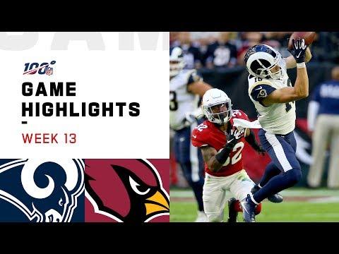 Rams vs. Cardinals Week 13 Highlights   NFL 2019