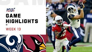 Rams vs. Cardinals Week 13 Highlights | NFL 2019