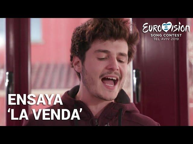 MIKI ensaya 'La venda' | Eurovisión 2019