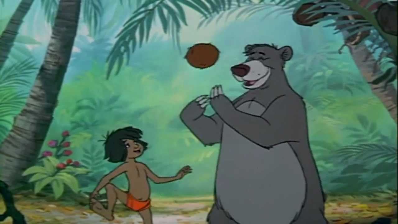 f4d32a18527 The Jungle Book - Bare Necessities (Italian Reverse Scene) - YouTube