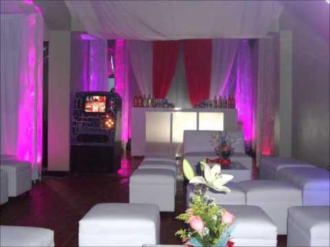 Mega fiestas decoraciones tecoman salas lounge youtube for Decoraciones para salas