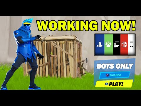 *NEW* How To Get Into FULL BOT LOBBIES In Fortnite Chapter 2 Season 2! PS4/XBOX/PC Bots Lobby Glitch
