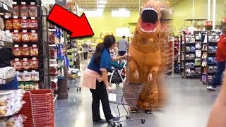 T-REX DINOSAUR PRANK! (COPS CALLED)
