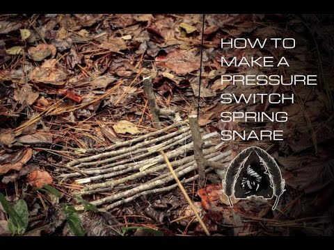 Black Scout Tutorials - How to Make a Pressure Switch Spring Snare (4K)
