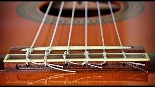 Как поменять нейлоновые струны на классической гитаре(В этом видео вы узнаете, как просто и надежно заменить/поменять нейлоновые струны на классической гитаре...., 2016-01-18T20:09:48.000Z)