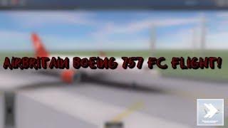 ROBLOX | Air Britain | Boeing 757 | First Class