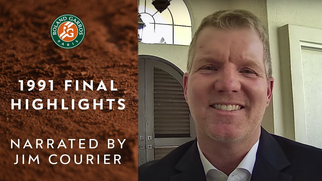 Highlights of 1991 Roland-Garros final narrated by Jim Courier