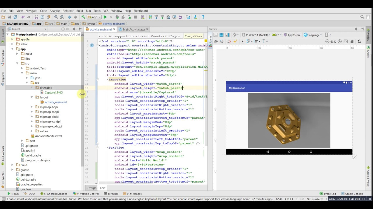 Android App Background Image Set With Brightness And Opacity In Android Studio Youtube