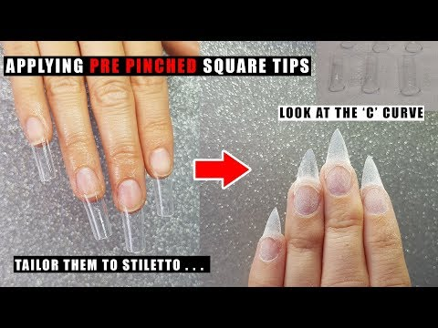 PRE PINCHED SQUARE NAIL TIPS APPLICATION | GLITTER PLANET