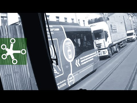 Въезд в Питер, запрет для грузовых, девушка в трамвае