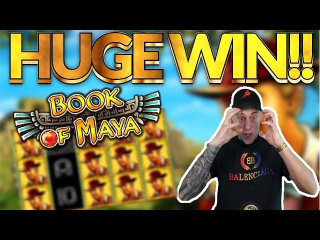 BIG WIN!! Book of Maya Big win - HUGE WIN on Casino slots from Casinodaddy