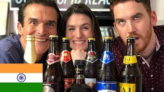 Americans try Indian Beers | AND OLD MONK