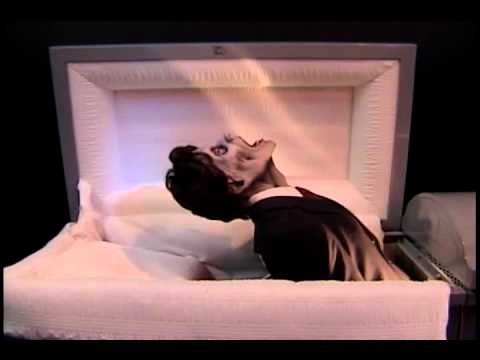 animated life size coffin riser man rising from casket