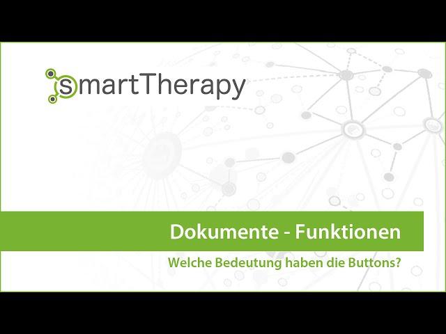 smartTherapy: Dokumente Funktionen