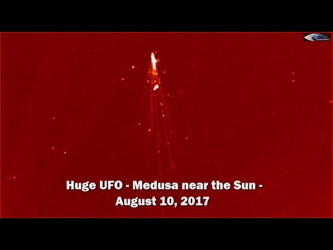 Huge UFO - Medusa near the Sun - August 10, 2017