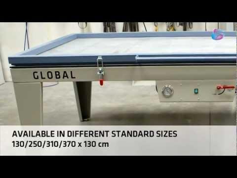Vacuum membrane press for veneering, laminating and bending wood
