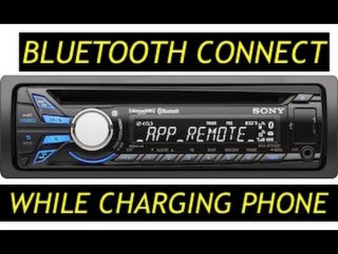 CONNECT BLUETOOTH TO SONY MEX-BT3100P - YouTube