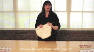 Sani-pant Reusable Plastic Pants - Snap-On - SAL800L