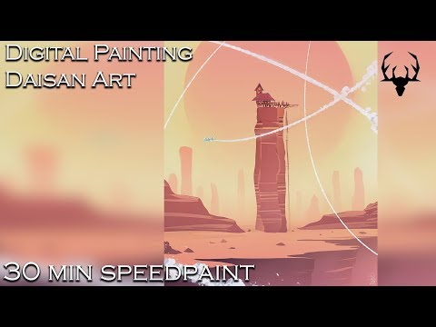 Lasso tool speedpaint – digital painting process – Photoshop