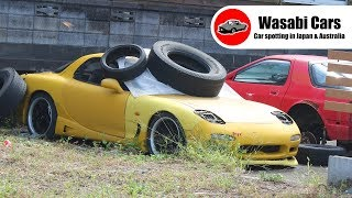 Three Knackered Mazda RX7s in a Yard: FD3S, FC3S, RE Amemiya
