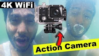 [Hindi] Best 4K WiFi Action Camera Review with samples