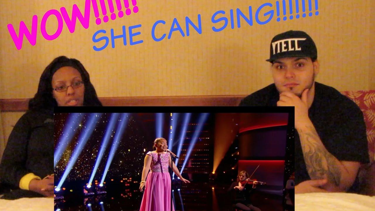 ELHA NYMPHA SINGS CHANDELIER REACTION!!! - YouTube