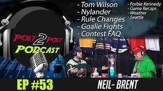 """Podcast: Ep #53 """"Tom Wilson, Nylander, Rule Changes, Goalie Fights + More!"""""""