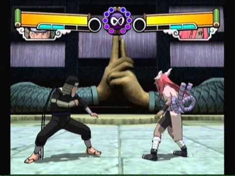 Naruto Gekitou Ninja Taisen 4-Third Hokage Vs 5 Sound Ninja
