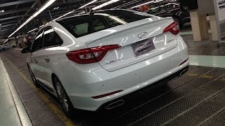2015 Hyundai Sonata -- First Drive with Alabama Factory Tour & In Depth Apple Car Play Demo