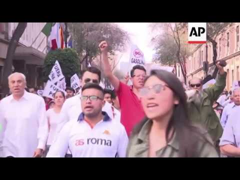 Raw: Protests in Mexico Over Rising Gas Prices
