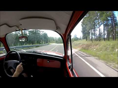 GoPro Hero3 driving video in 1972 VW Super Beetle Bug for sale