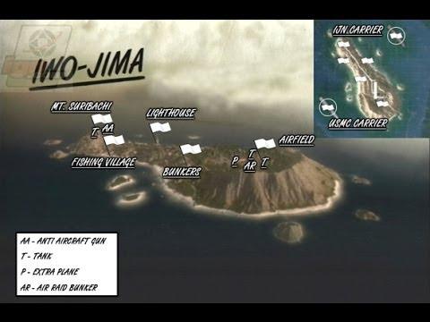 Battlefield 1943 -- Iwo Jima Map -- Watch me do well and learn some stuff 720p