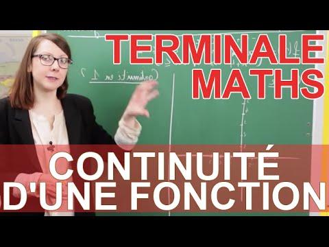Continuité d'une fonction - Exercice - Maths terminale - Les Bons Profs