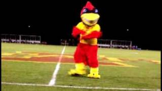 iowa state mascot cy does evolution of dance