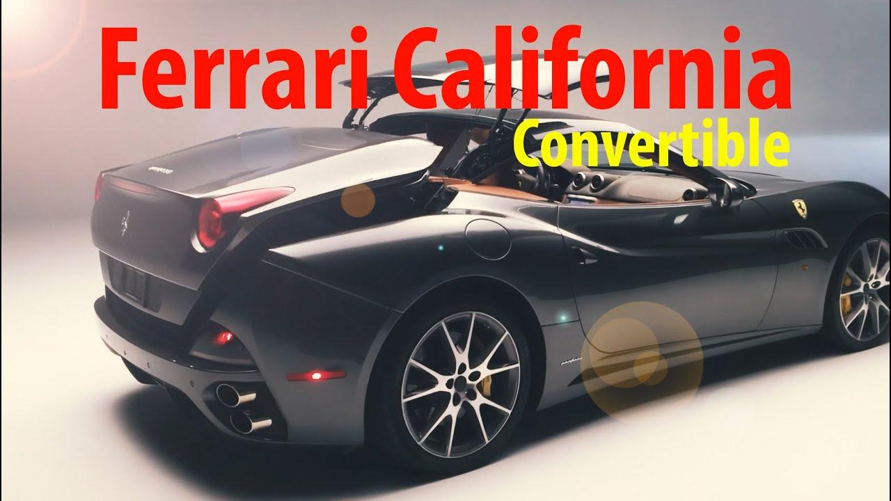 Ferrari California T >> Ferrari California convertible top going down. - YouTube