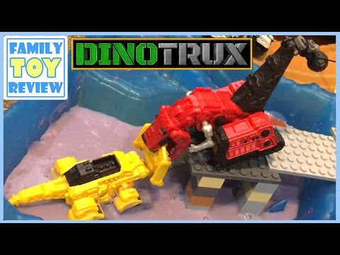 Thumbnail: DinoTrux Toys Ty-Rux Meets Revvit - Tarpit Rescue Toy Story 다이노트럭 DinoTrux Episode 1 Ty and Revvit