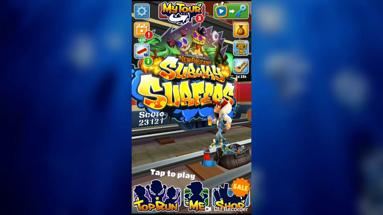 Subway surfers playing for fun